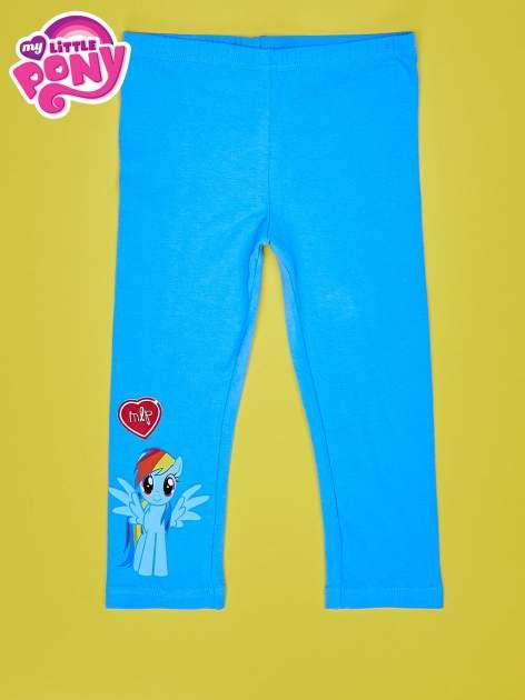 Niebieskie legginsy dla dziewczynki z nadrukiem MY LITTLE PONY                                  zdj.                                  1