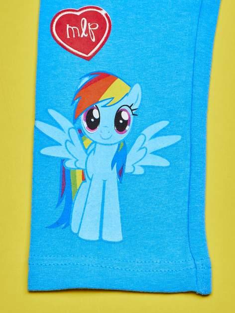 Niebieskie legginsy dla dziewczynki z nadrukiem MY LITTLE PONY                                  zdj.                                  5