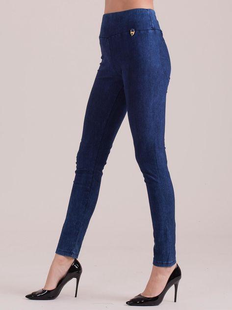 Niebieskie legginsy push up                              zdj.                              3