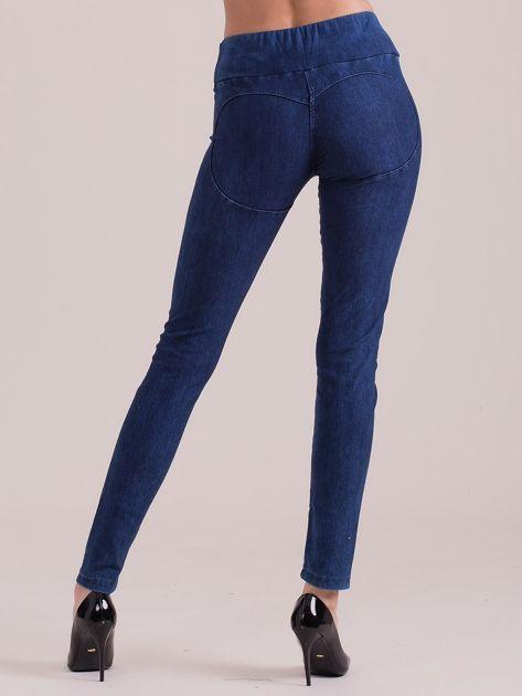 Niebieskie legginsy push up                              zdj.                              2