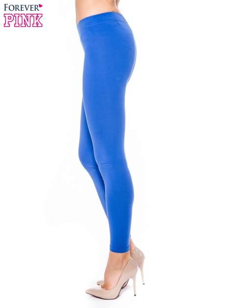 Niebieskie legginsy z bawełny                                  zdj.                                  2