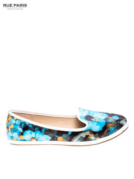 Niebieskie lordsy w floral print                                  zdj.                                  1