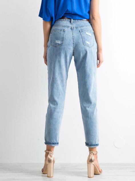 Niebieskie mom jeans Trashed                              zdj.                              2