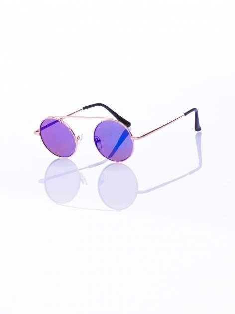 Niebieskie okulary przeciwsłoneczne LENONKI RETRO lustrzanka                                  zdj.                                  2