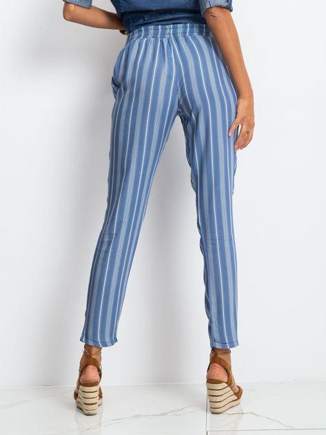 Niebieskie spodnie w paski                              zdj.                              2