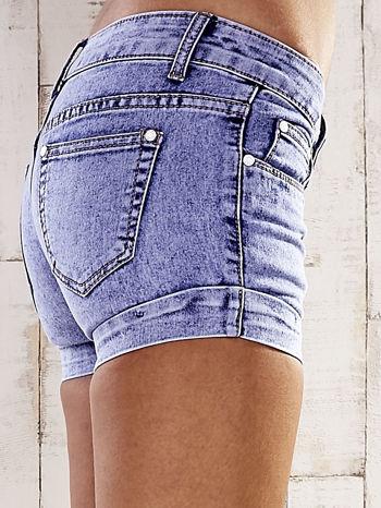Niebieskie szorty jeansowe marble denim                                  zdj.                                  6