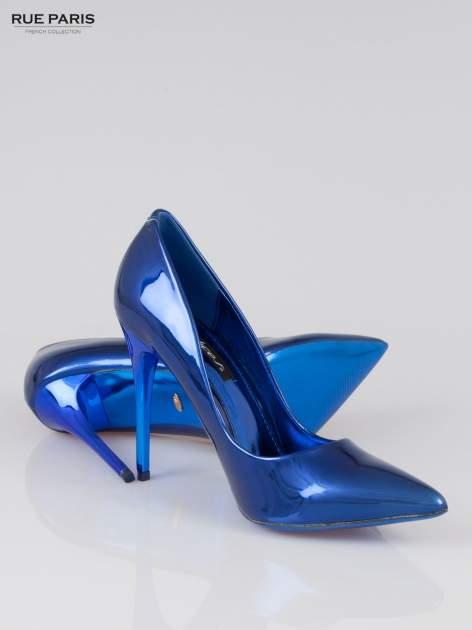 Niebieskie szpilki metaliczne                                  zdj.                                  4
