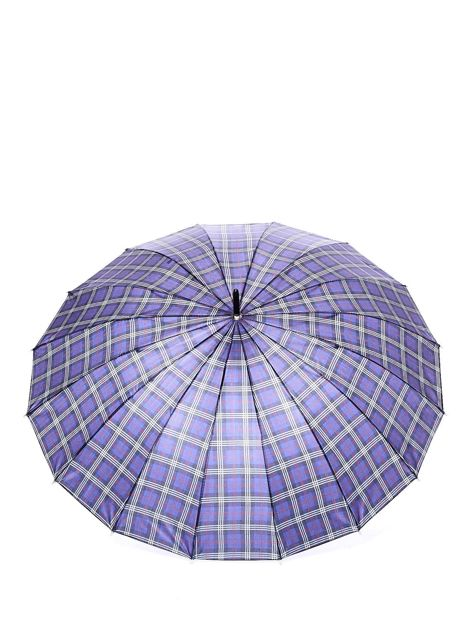 Niebiesko-czerwony parasol w kratkę                              zdj.                              2