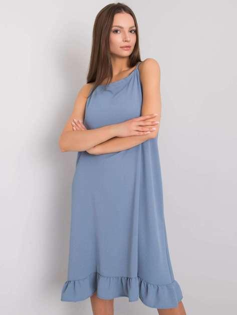 Niebiesko-szara sukienka na ramiączkach Simone