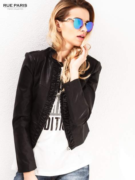 Niebiesko-zielone okulary przeciwsłoneczne stylizowane na FENDI                                  zdj.                                  4