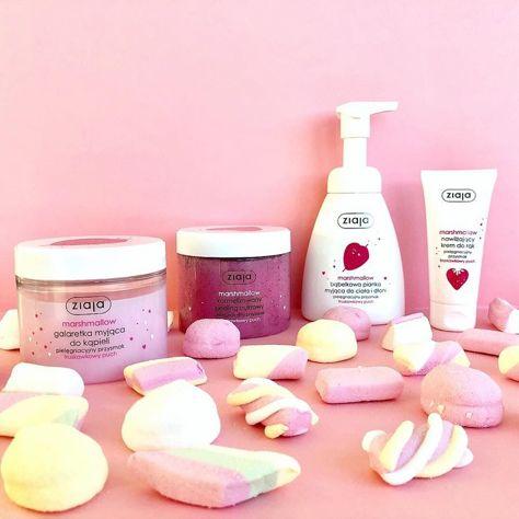 Nowość! ZIAJA Pielęgnacyjne Przysmaki MARSHMALLOW Peeling cukrowy o zapachu pianek marshmallow 300ml                              zdj.                              2