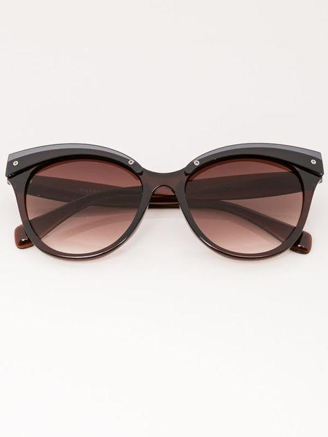MANINA Okulary przeciwsłoneczne damskie brązowe szkło brązowe dymione                              zdj.                              3
