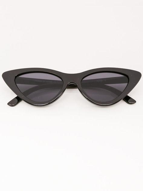 VIP LIFE Okulary przeciwsłoneczne damskie czarne szkło szare                              zdj.                              3