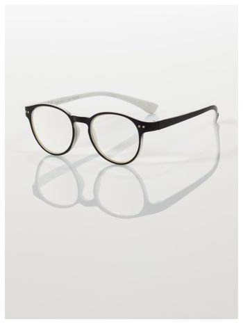 Okulary korekcyjne  +1.0 D dwukolorowe ,do czytania, stylizowane na RAY BAN +GRATIS PLASTIKOWE ETUI I ŚCIERECZKA Z MIKROFIBRY                                  zdj.                                  1