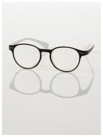 Okulary korekcyjne  +1.5 D dwukolorowe ,do czytania, stylizowane na RAY BAN +GRATIS PLASTIKOWE ETUI I ŚCIERECZKA Z MIKROFIBRY                                  zdj.                                  2