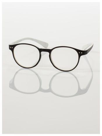 Okulary korekcyjne  +2.5 D dwukolorowe ,do czytania, stylizowane na RAY BAN +GRATIS PLASTIKOWE ETUI I ŚCIERECZKA Z MIKROFIBRY                                  zdj.                                  2