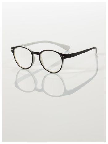 Okulary korekcyjne  +3.0 D dwukolorowe ,do czytania, stylizowane na RAY BAN +GRATIS PLASTIKOWE ETUI I ŚCIERECZKA Z MIKROFIBRY                                  zdj.                                  1
