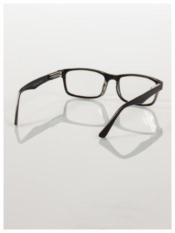 Okulary korekcyjne +4.0 D ,model WAYFARER do czytania z systemem FLEX na zausznikach +GRATIS PLASTIKOWE ETUI I ŚCIERECZKA Z MIKROFIBRY                                  zdj.                                  5