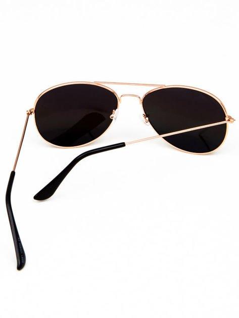 Okulary w stylu PILOTKI/AVIATOR unisex z szybą OMBRE                              zdj.                              3
