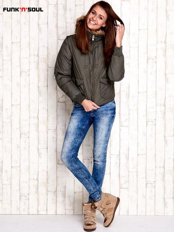 Oliwkowa kurtka z odpinanymi rękawami FUNK N SOUL                                  zdj.                                  6