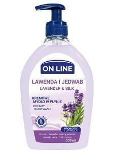 On Line Mydło w płynie kremowe z dozownikiem Lawenda i Jedwab  500 ml