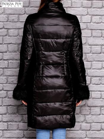 PATRIZIA PEPE Czarna pikowana kurtka                                  zdj.                                  3