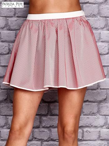 PATRIZIA PEPE Różowa rozkloszowana spódnica                                  zdj.                                  1
