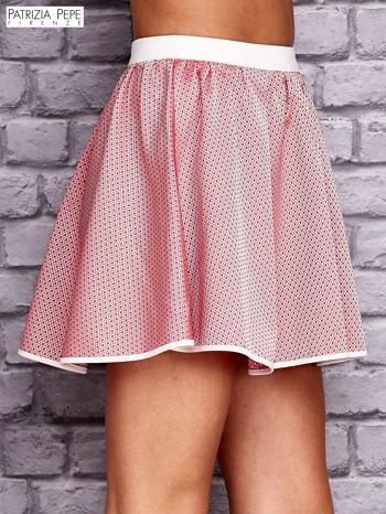 PATRIZIA PEPE Różowa rozkloszowana spódnica                                  zdj.                                  3