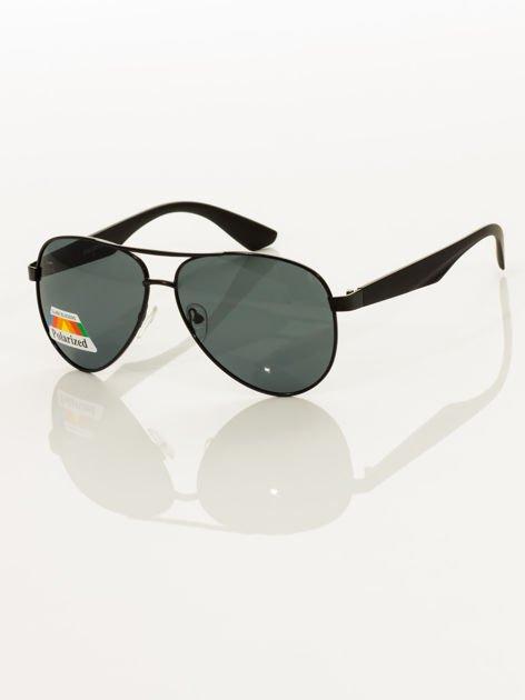 POLARYZACJA Czarne okulary pilotki                                   zdj.                                  1