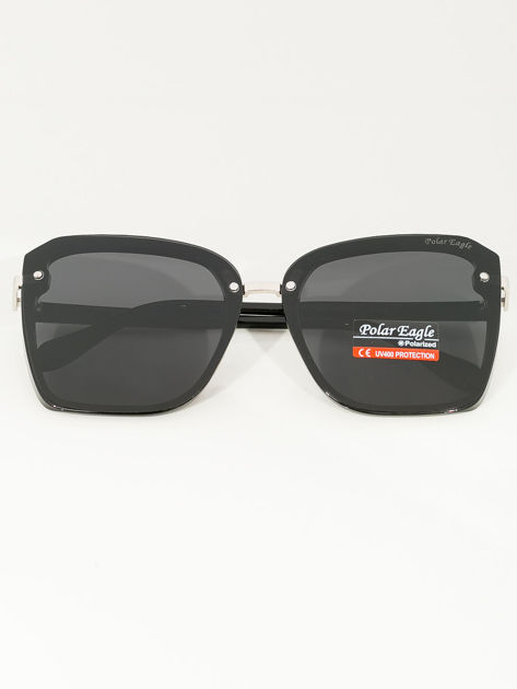 PREMIUM czarne damskie przeciwsłoneczne okulary POLARYZACYJNE                              zdj.                              1