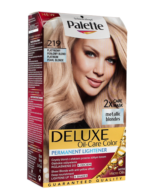 """Palette Deluxe Farba do włosów permanentna nr 219 Platynowy Perłowy Blond  1op."""""""