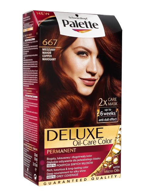 """Palette Deluxe Farba do włosów permanentna nr 667 Miedziany Mahoń  1op."""""""