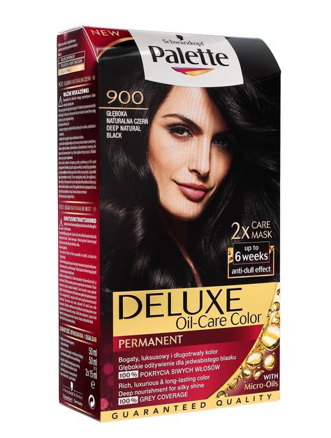"""Palette Deluxe Farba do włosów permanentna nr 900 Głęboka Naturalna Czerń  1op."""""""