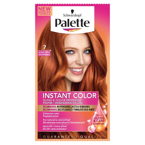 "Palette Instant Color Szamponetka koloryzująca Intensywna Miedź nr 7 25 ml"""