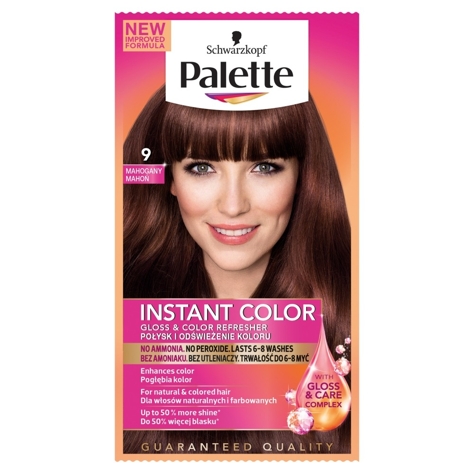 "Palette Instant Color Szamponetka koloryzująca Mahoń nr 9  1szt"""