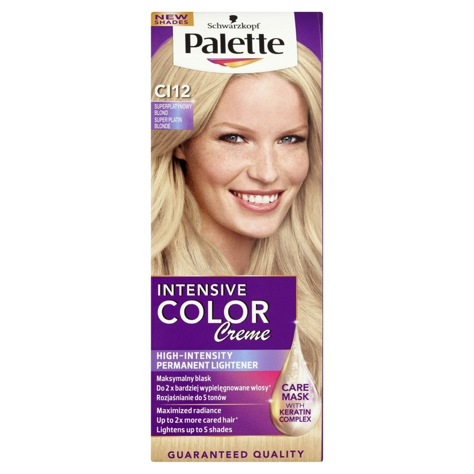 "Palette Intensive Color Creme Krem koloryzujący nr CI12 -superplatynowy blond  1op"""