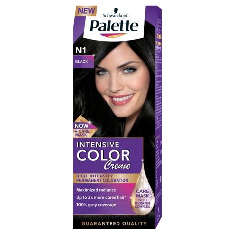 """Palette Intensive Color Creme Krem koloryzujący nr N1-czerń  1op."""""""