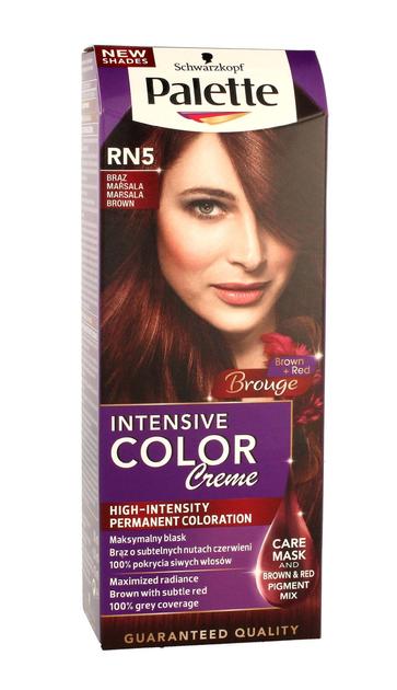 "Palette Intensive Color Creme Krem koloryzujący nr RN5-brąz Marsala  1op."""