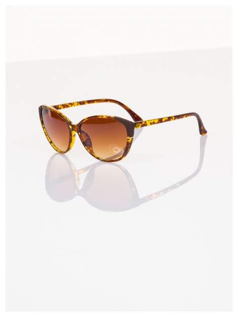 Pantera KOCIE OKO klasyczne damskie okulary przeciwsłoneczne ze zdobieniami na ramkach                                   zdj.                                  1
