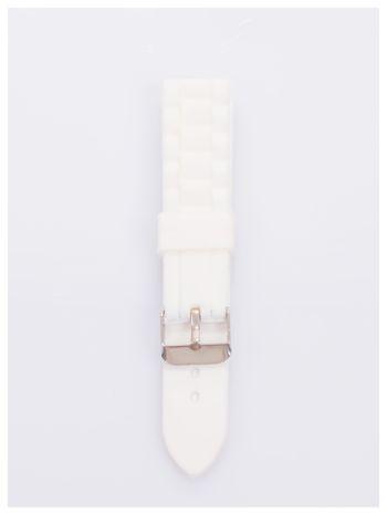 Pasek silikonowy do zegarka 20 mm - biały                                  zdj.                                  1