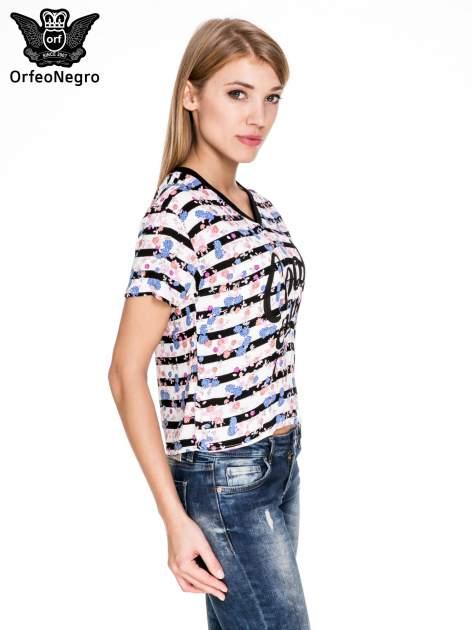 Pasiasty t-shirt z napisem GOOD ENOUGH                                   zdj.                                  3