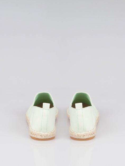 Pastelowozielone klasyczne espadryle Lofty Swag cap toe                                  zdj.                                  3