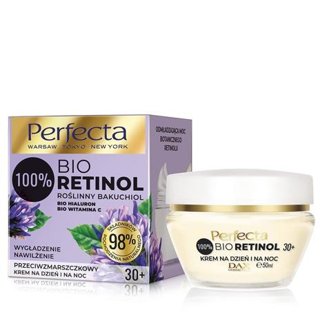 """Perfecta 100% Bio Retinol 30+ Przeciwzmarszczkowy Krem na dzień i noc - nawilżenie i wygładzenie 50ml"""""""