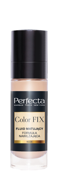 """Perfecta Color FIX Fluid matujący do twarzy-formuła nawilżająca Nude  30ml"""""""