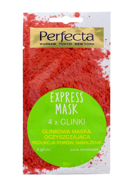 Perfecta Express Mask Glinkowa Maska oczyszczająca 4 Glinki 8 ml