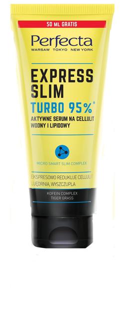 "Perfecta Express Slim Turbo 95% Aktywne Serum na cellulit wodny i lipidowy  250ml"""