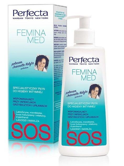 Perfecta Femina Med SOS Specjalistyczny Płyn wspomagający do higieny intymnej  (infekcje grzybicze i upławy) 250 ml