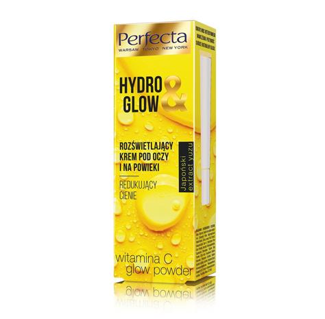 """Perfecta Hydro & Glow Rozświetlający Krem pod oczy i na powieki - redukujący cienie  15ml"""""""