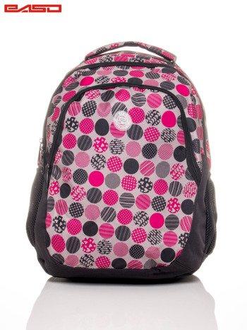 Plecak szkolny we wzorzyste kropki