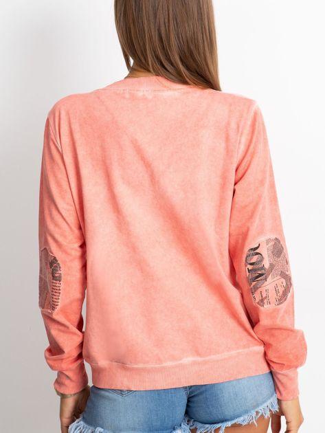 Pomarańczowa bluza o kroju bomberki                               zdj.                              2